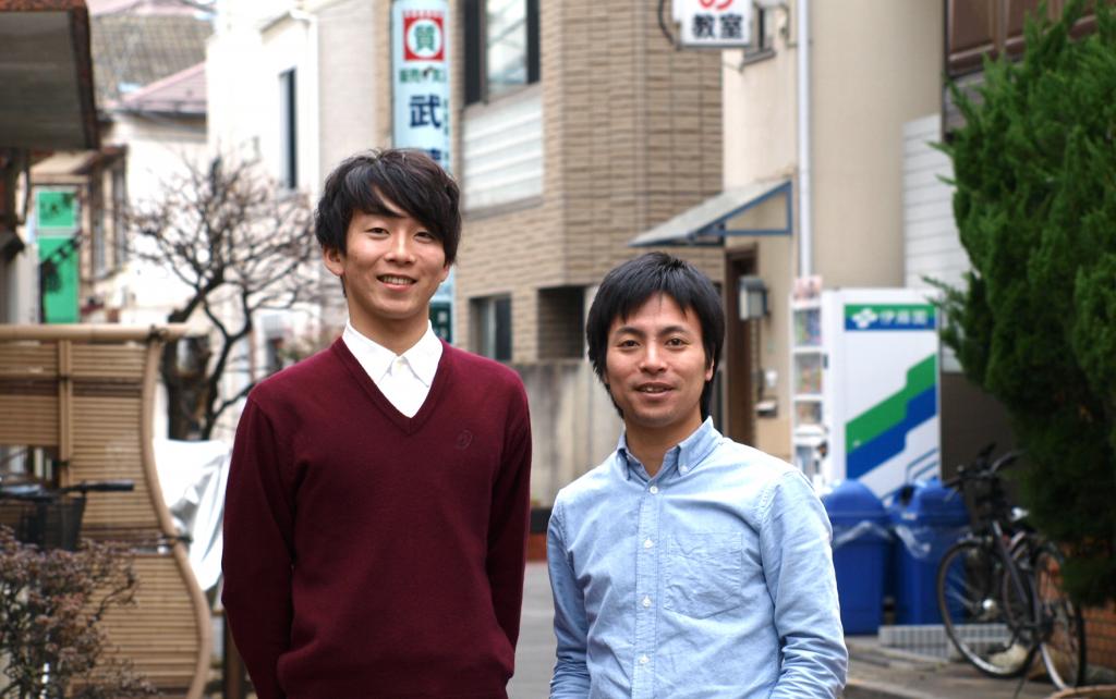 写真右:YouthCreate・原田代表、写真左:リマンベ・岩堀